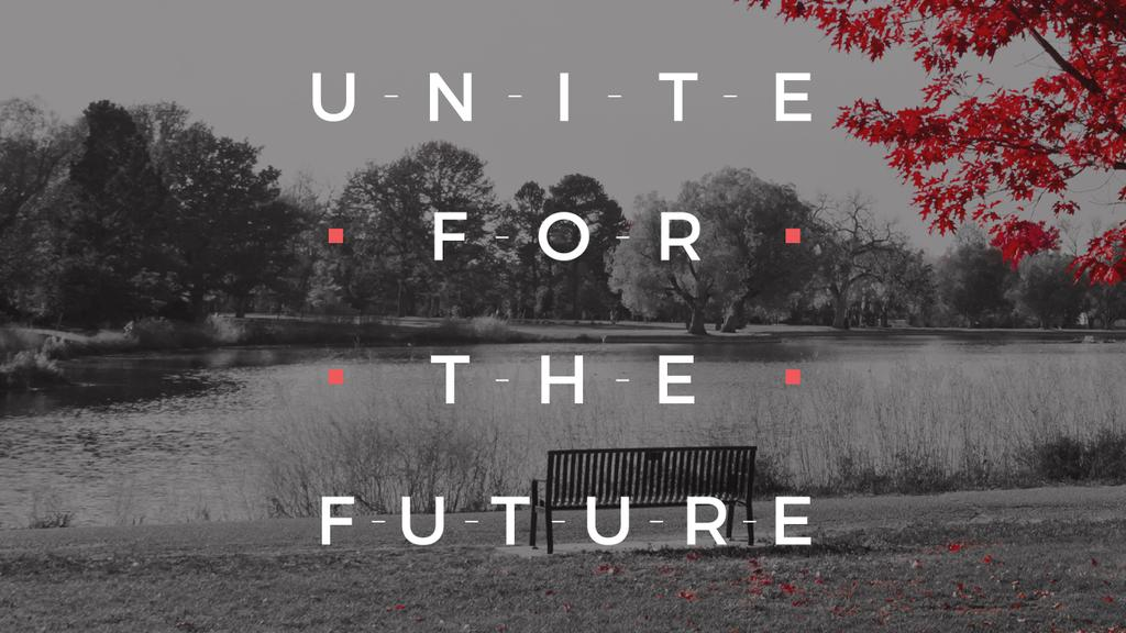 Concept of Unite for the future — Maak een ontwerp