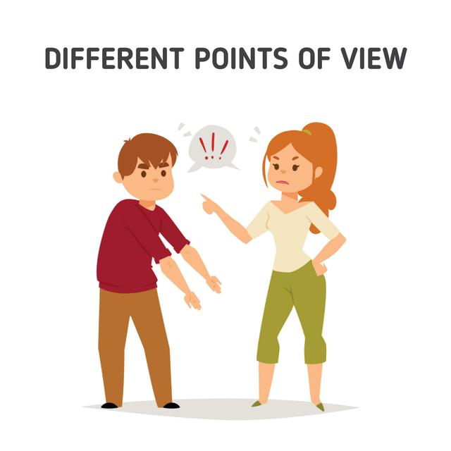 Man and woman having an argument Animated Post Design Template