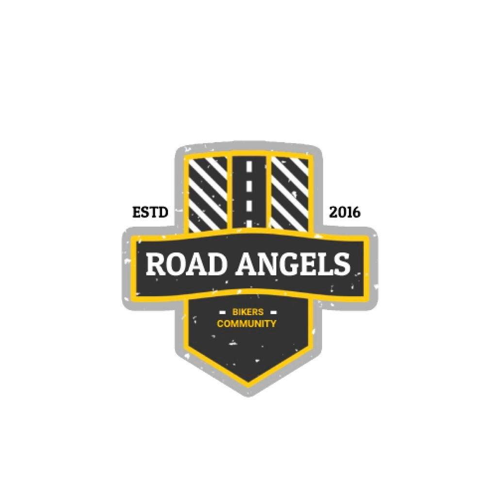 Bikers Community Road Symbol — Crea un design
