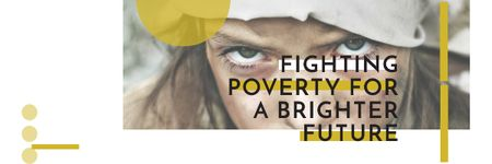 Plantilla de diseño de Citation about Fighting poverty for a brighter future Email header