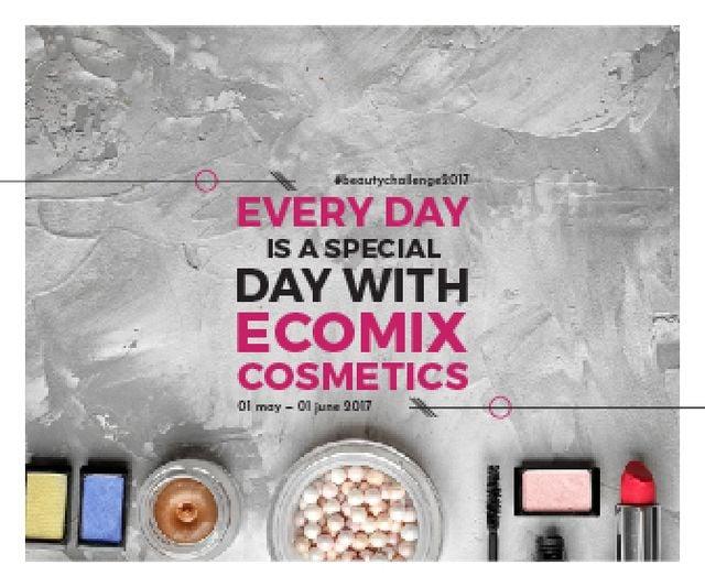 Ecomix cosmetics poster Large Rectangle – шаблон для дизайна