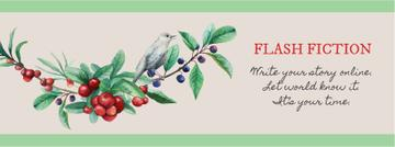 Writing Inspiration Quote Bird on a Branch | Facebook Cover Template