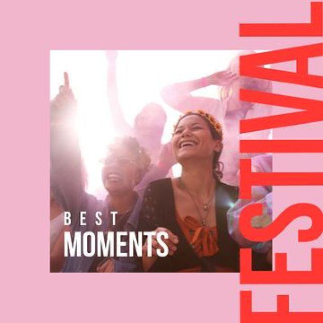 Plantilla de diseño de Happy People on Festival Photo Book