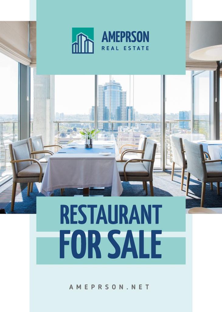 Ontwerpsjabloon van Flayer van Real Estate Offer Restaurant Interior