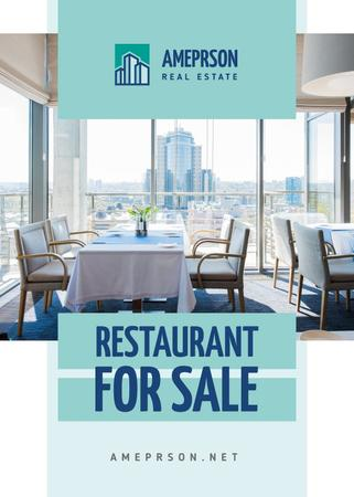 Real Estate Offer Restaurant Interior Flayer Modelo de Design