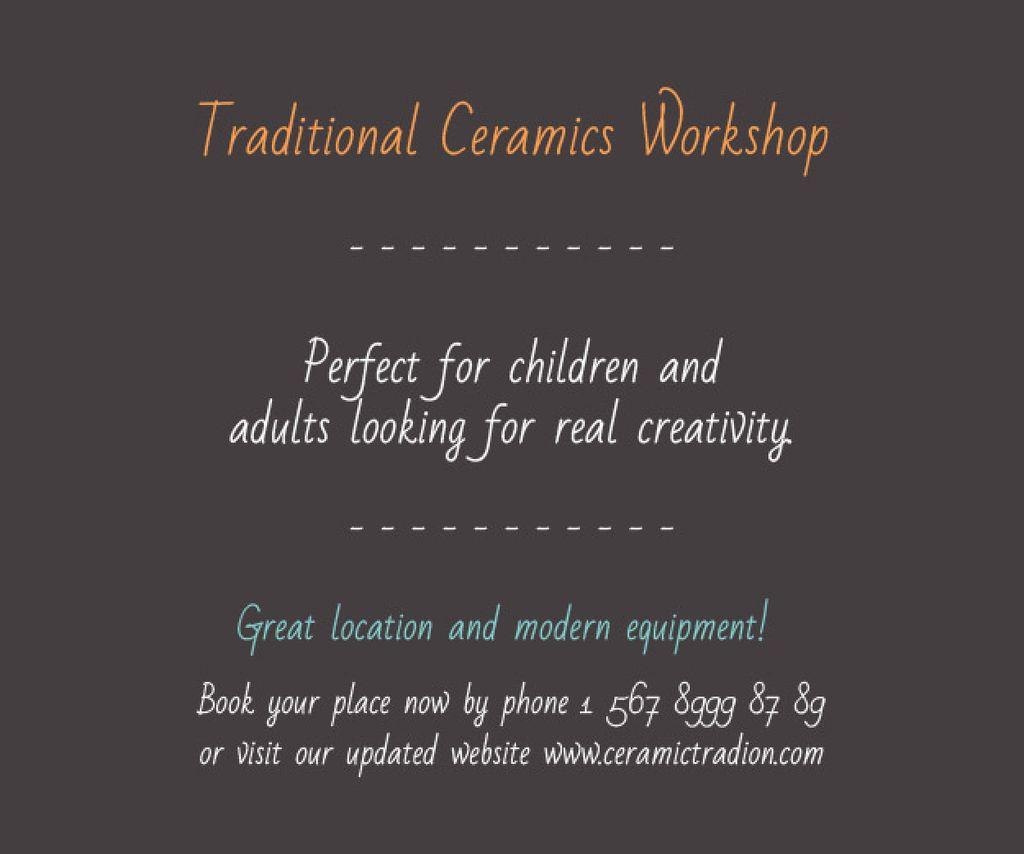Traditional Ceramics Workshop — Créer un visuel