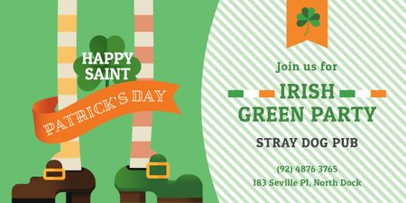 Ontwerpsjabloon van Image van Green Party Annoucement on St.Patricks Day