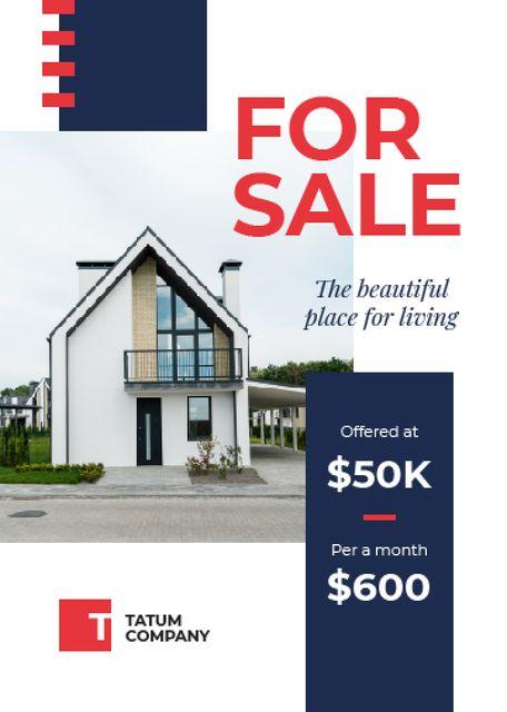 Plantilla de diseño de Real Estate Ad Cozy House Facade Flayer