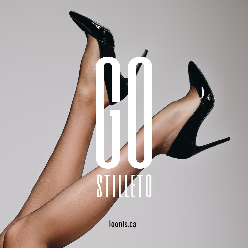 Female legs in Glossy shoes — Créer un visuel