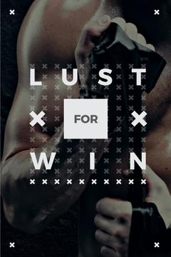 Lust for win Quote with boxer