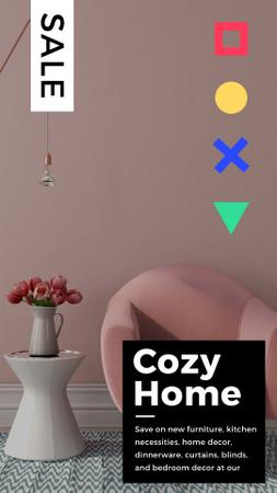 Cozy Interior in Pink Color Instagram Video Story Tasarım Şablonu