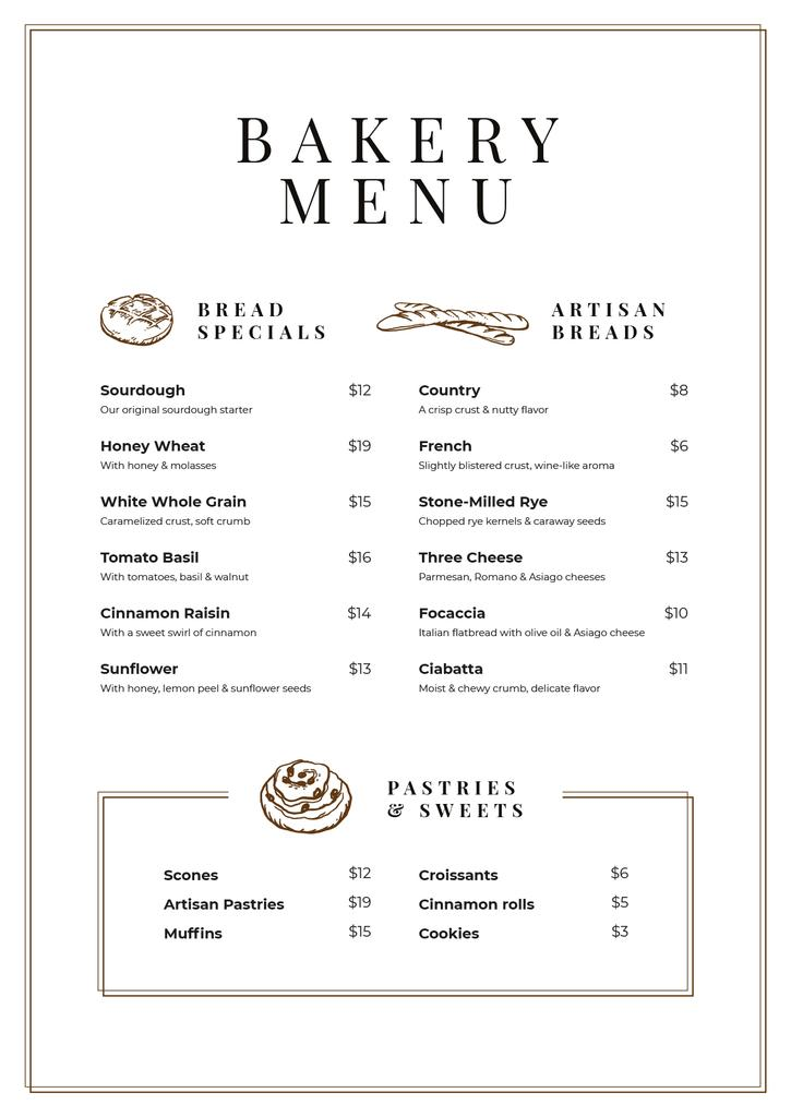 Bakery and Pastry list — Створити дизайн