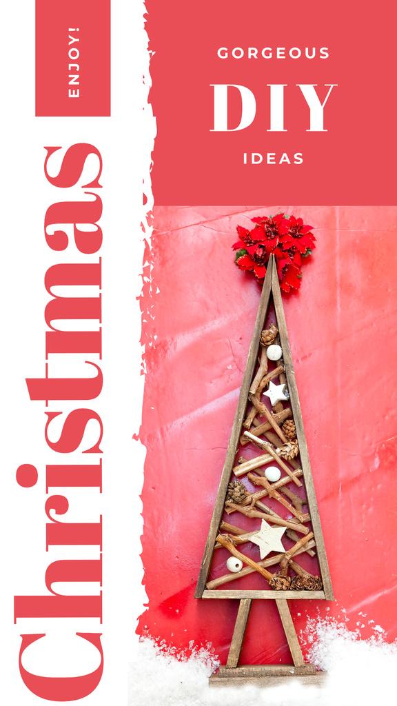 Stylized wooden Christmas tree — Crear un diseño