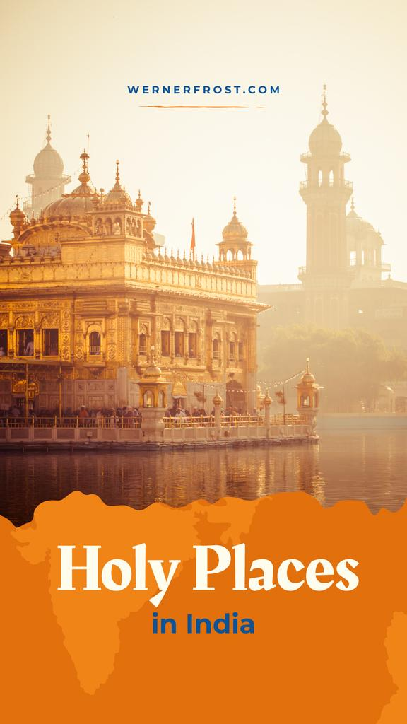 Holy Places with Indian holy temple — ein Design erstellen