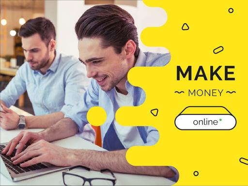 Money Online Ad With Businessmen