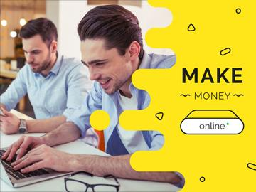 Money Online Ad with Businessmen