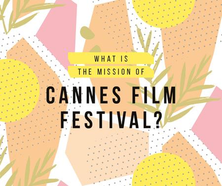 Cannes Film Festival golden palm Facebook Design Template
