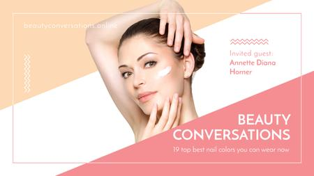 Beauty conversations website Ad Youtube Modelo de Design