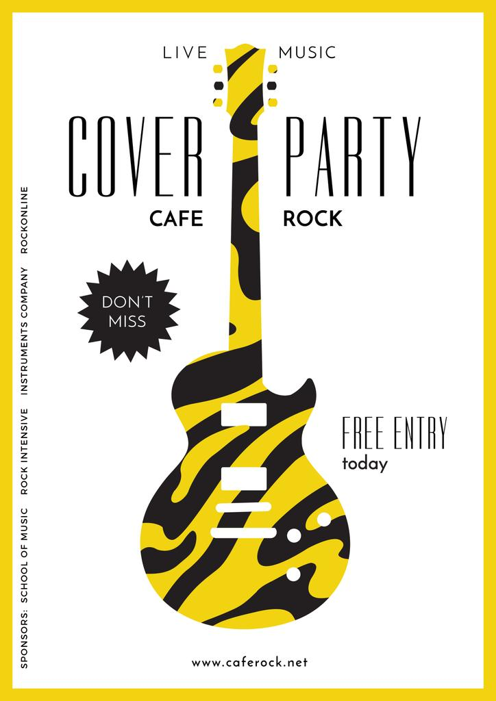 advertisement poster for cover party — ein Design erstellen