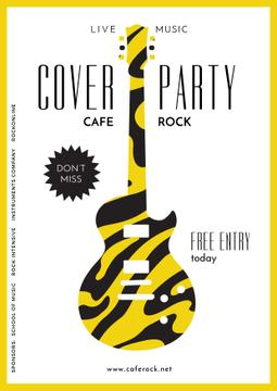 advertisement poster for cover party