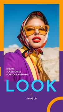 Fashion Accessories Ad Stylish Girl in Sunglasses | Stories Template