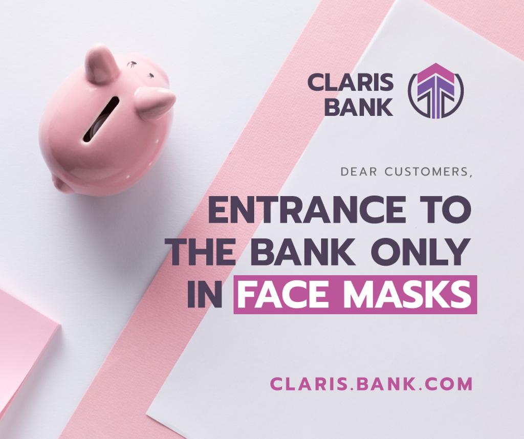 Bank Quarantine safety rules with Piggy Bank — Создать дизайн