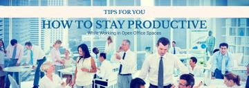 Productivity Tips Colleagues Working in Office | Tumblr Banner Template