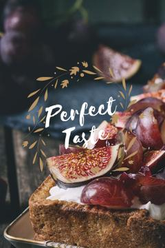 perfect taste poster with delicious cake