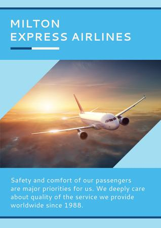 Express airlines advertisement Poster Modelo de Design