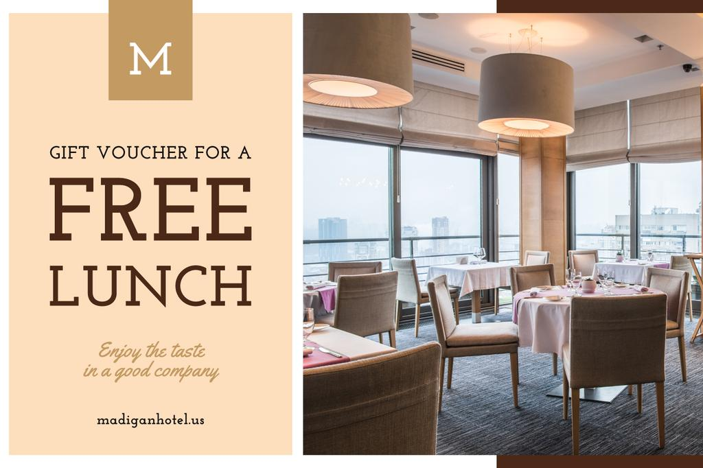 Lunch Offer with Modern Restaurant Interior —デザインを作成する