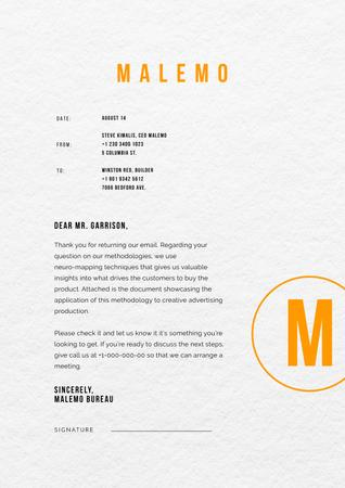 Ontwerpsjabloon van Letterhead van Marketing agency business response