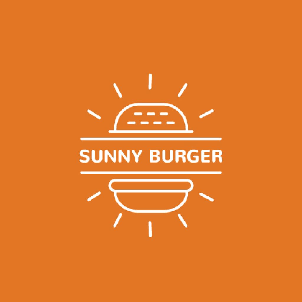 Fast Food Ad with Burger in Orange — ein Design erstellen