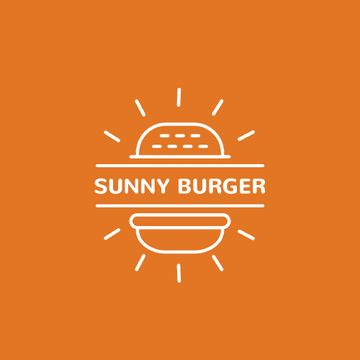 Fast Food Ad Burger in Orange | Animated Logo Template
