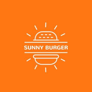 Fast Food Ad Burger in Orange