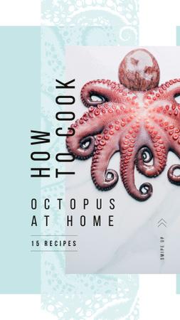 Ontwerpsjabloon van Instagram Story van Raw octopus delicacy