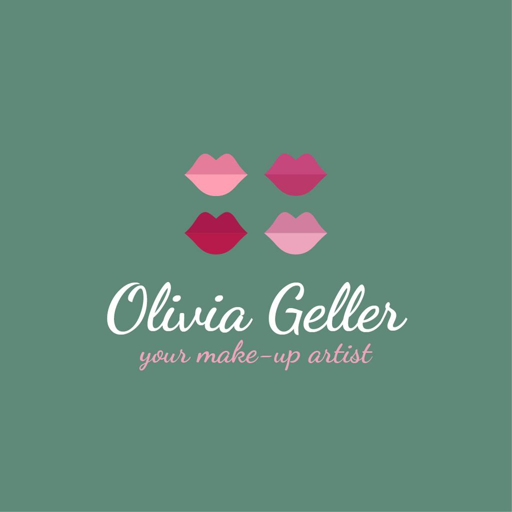 Make-Up Artist Promotion Lip Prints in Pink — ein Design erstellen