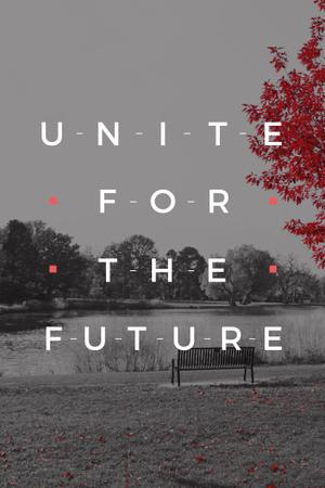 Ontwerpsjabloon van Pinterest van Concept of Unite for the future