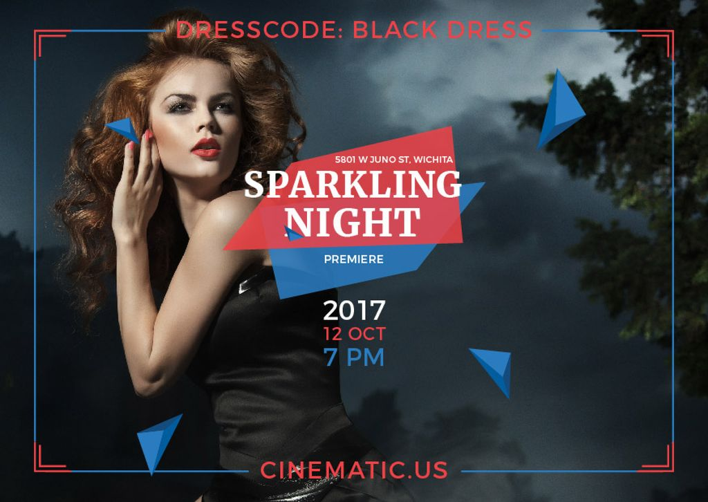 Film Night Event Invitation — Crear un diseño