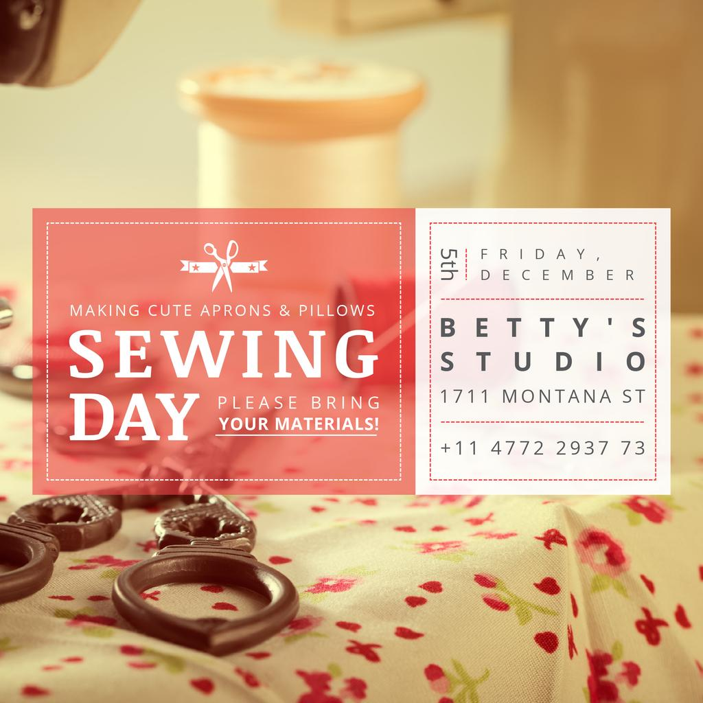 Sewing day event  — Create a Design