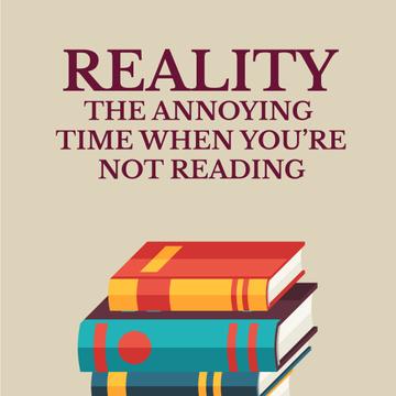 Rising Pile of Books