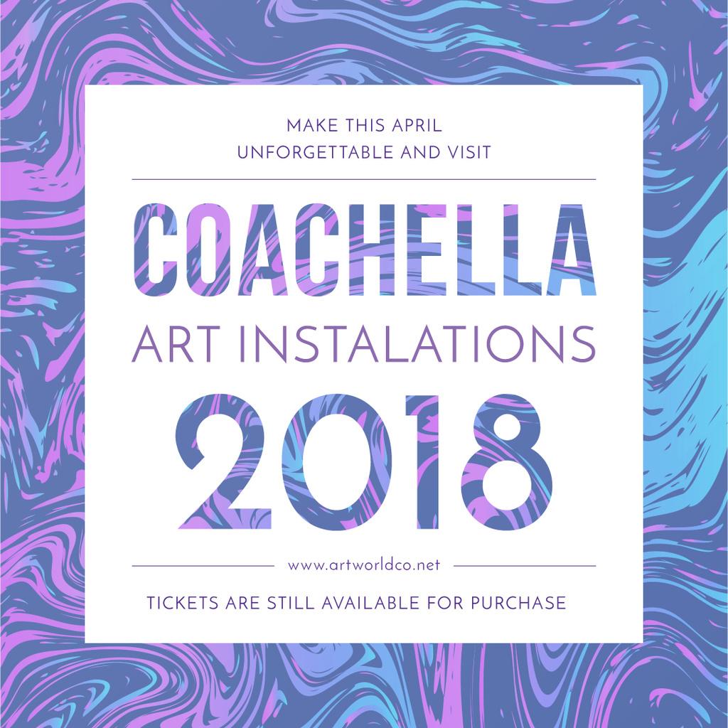 Coachella festival art installation — ein Design erstellen