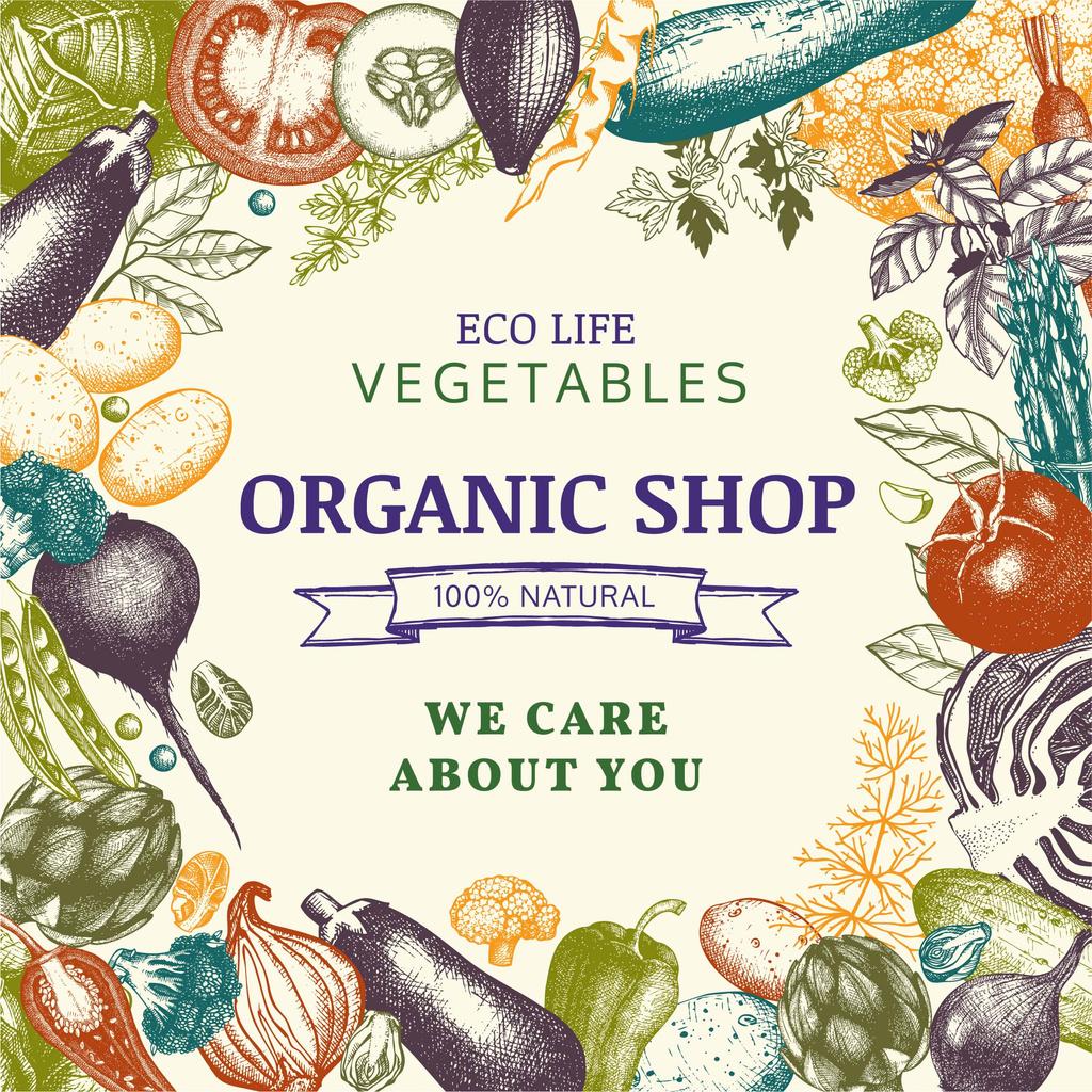 Organic shop with Vegetables — Maak een ontwerp