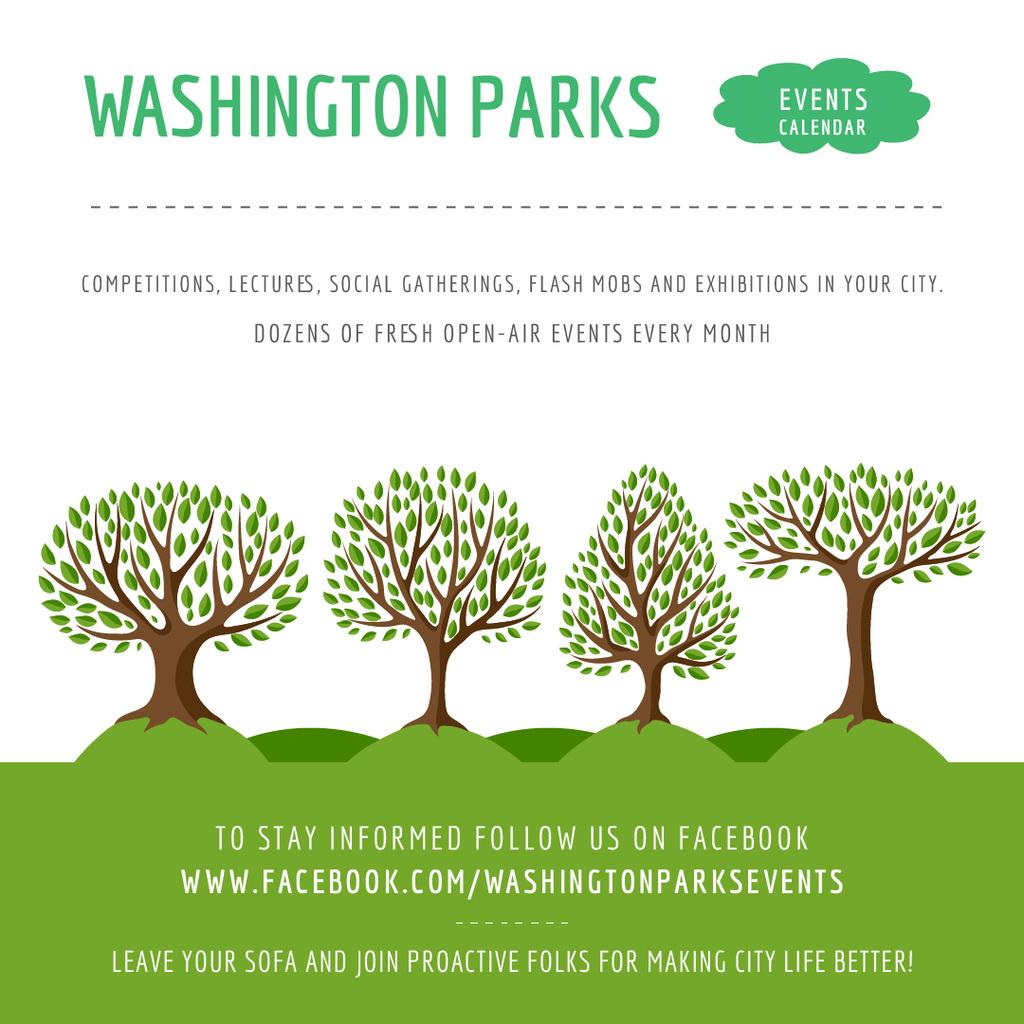Events in Washington parks — Maak een ontwerp