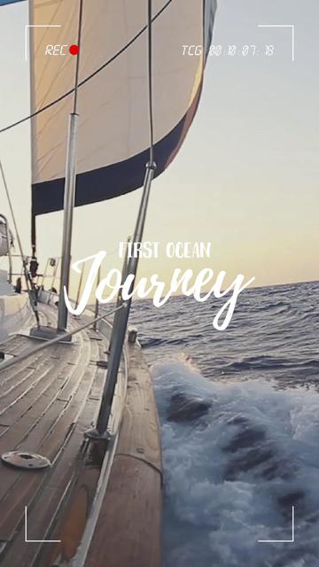 Template di design White Yacht in Sea TikTok Video