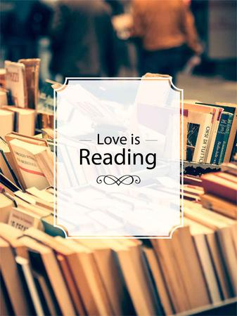 Reading Inspiration Books on Shelves Poster US – шаблон для дизайна