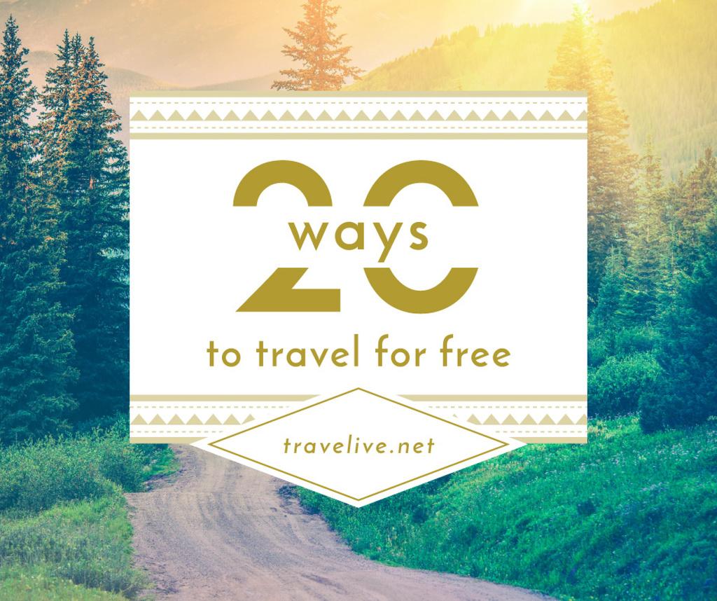 20 ways to travel poster — Créer un visuel