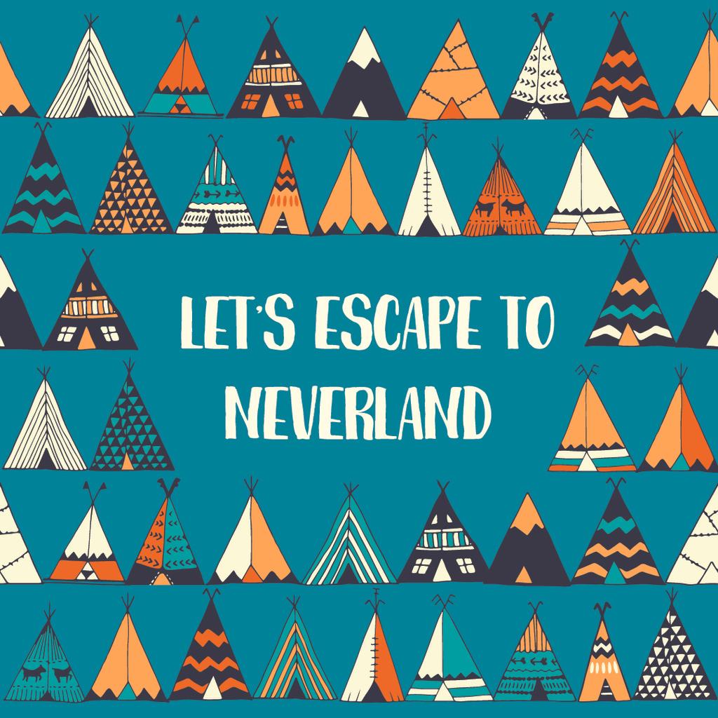 Escape to Neverland illustration — Modelo de projeto