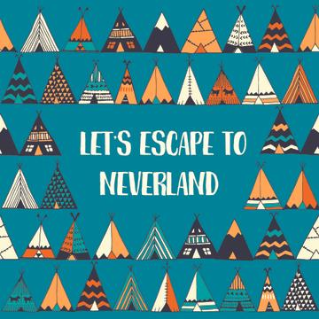 Escape to neverland illustration
