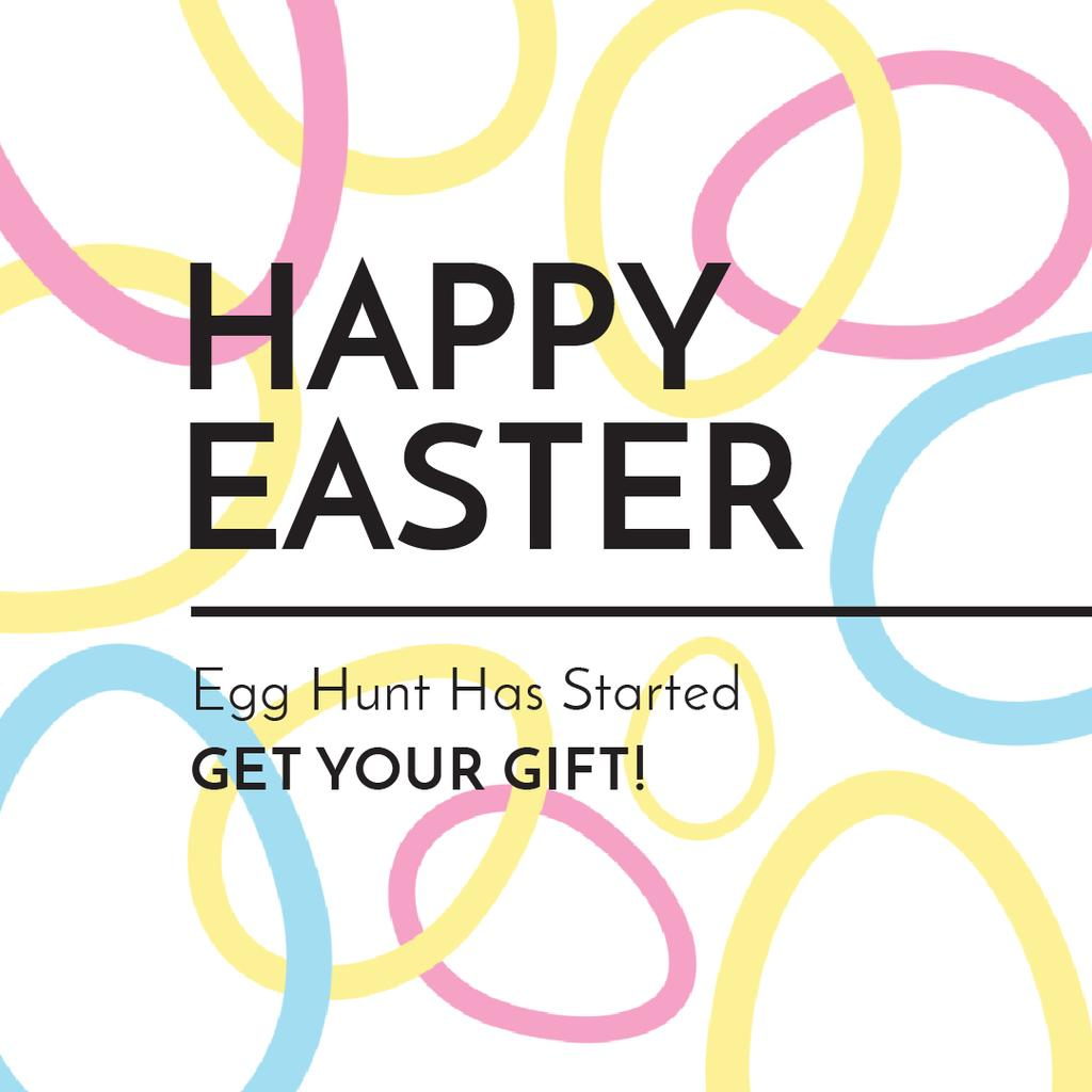 Egg Hunt Offer with rotating Easter Eggs — Créer un visuel