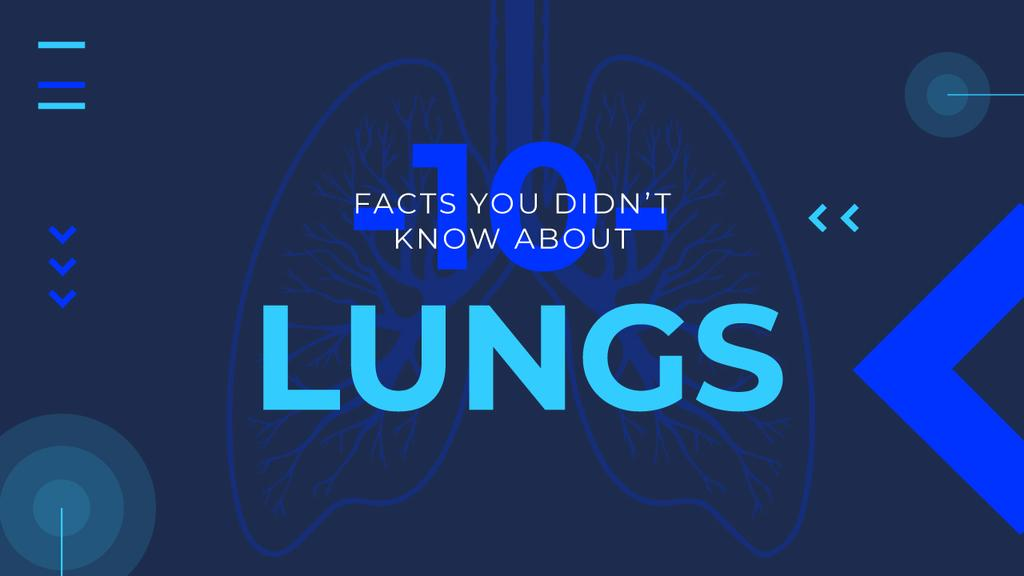 Medical Facts Lungs Illustration in Blue — Crea un design